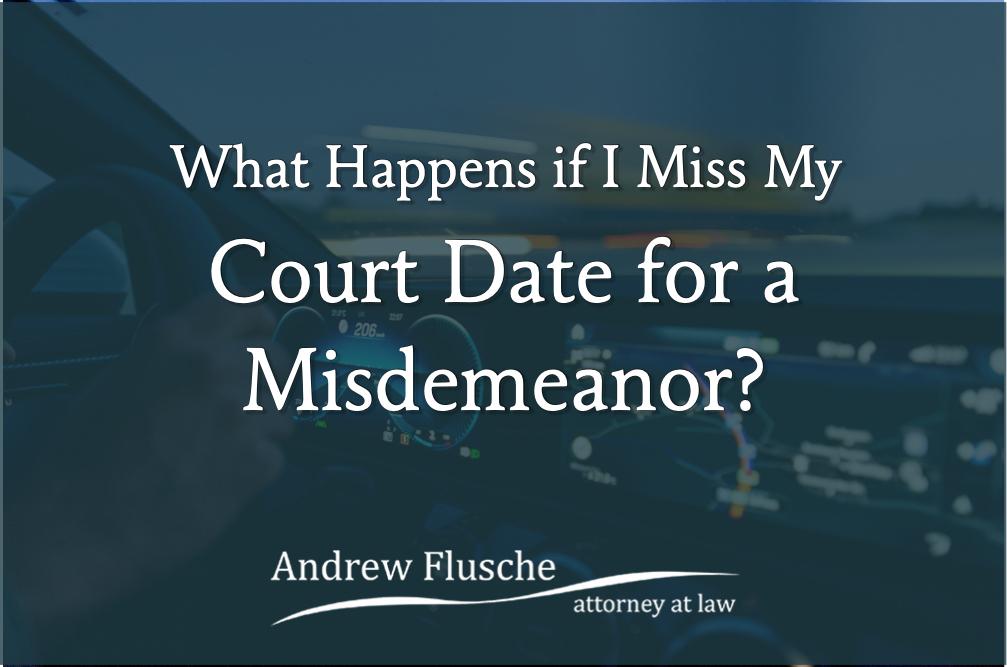 misdemeanor court date